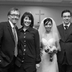 Just married! Mike and Katia Bois, Lorraine and myself
